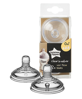 Tommee Tippee closer to nature vari flow teat - 2 pack