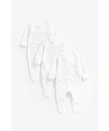 my first terry sleepsuits – 3 pack