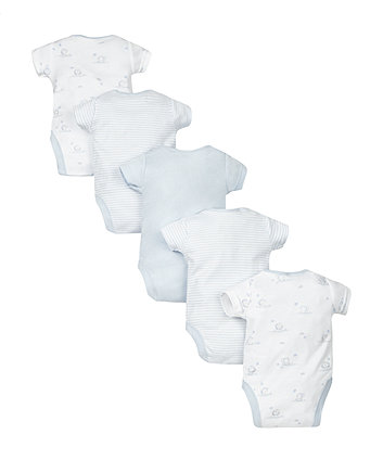 blue bodysuits - 5 pack