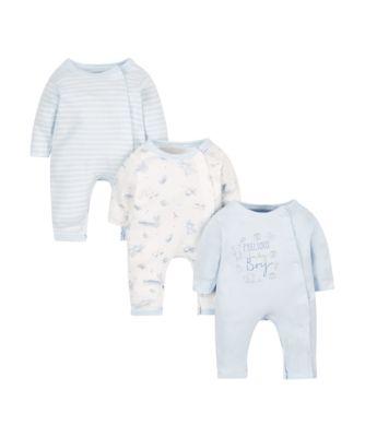 blue premature sleepsuits - 3 pack
