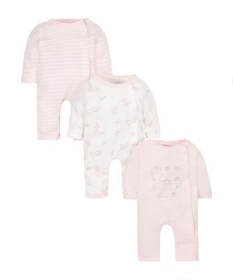pink premature sleepsuits - 3 pack