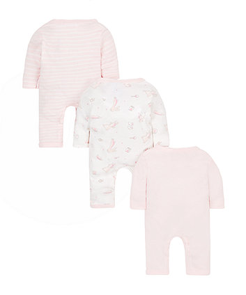 pink premature sleepsuits - 3 pack