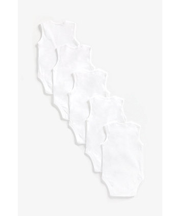 white bodysuits - 5 pack