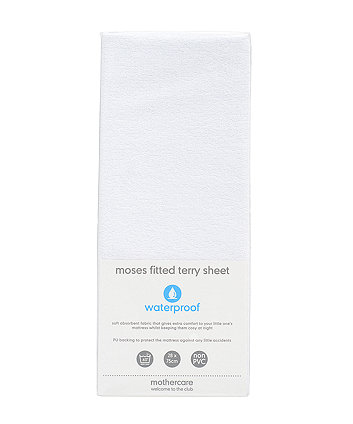mothercare fitted moses basket/pram terry sheet