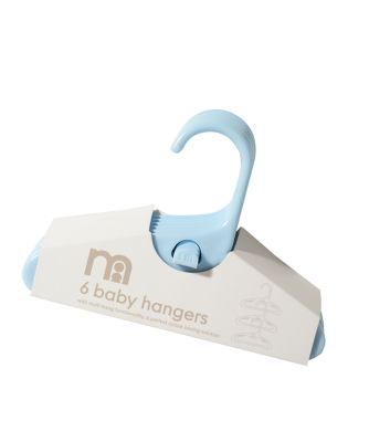 mothercare blue baby hangers - 6 pack