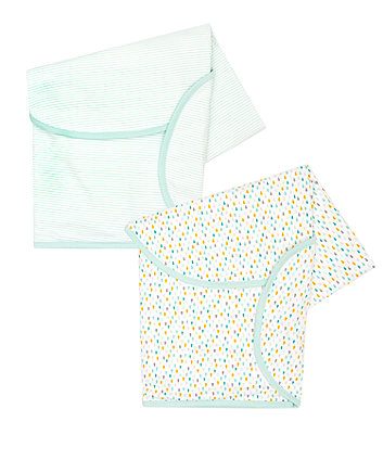 mothercare essential swaddles - 2 pack