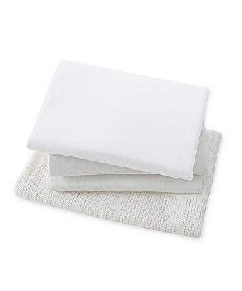 mothercare moses basket starter set - white