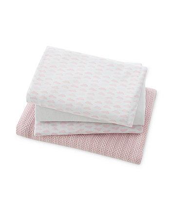 mothercare moses basket starter set - pink
