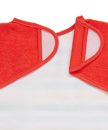 mothercare stars and striped toweling coverall bibs - 2 pack