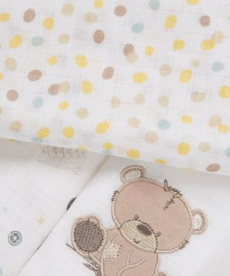 teddy's toy box muslins -  3 Pack
