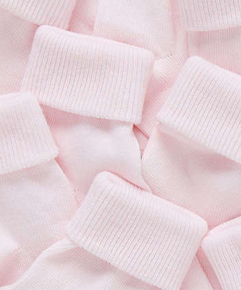 pink turn-over-top socks - 5 pack