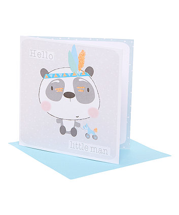 panda boy card