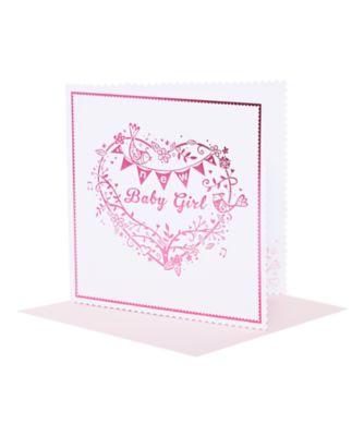 girl tree heart card