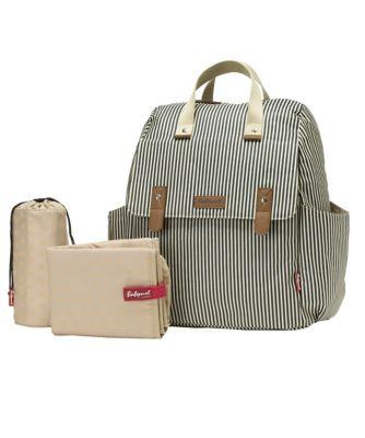 Babymel robyn convertible backpack - navy stripe