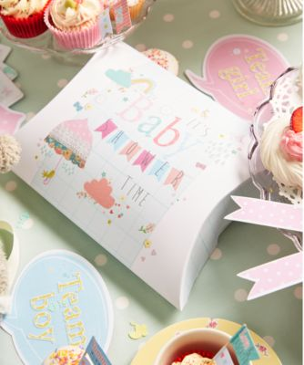 baby shower pillow box and tissue