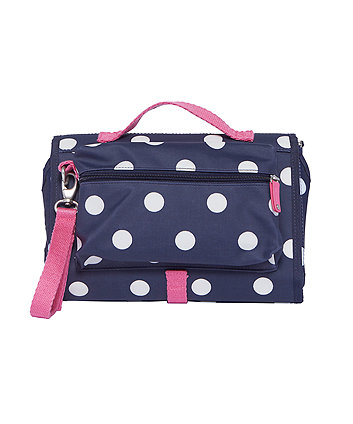 mothercare zinnia changing clutch - classic navy spot