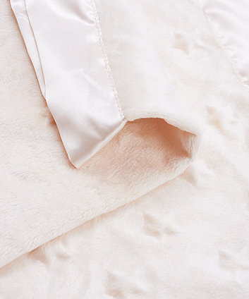 cream popcorn star blanket