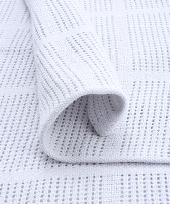 mothercare crib or moses basket cellular cotton blanket - grey