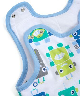 robots snoozie sleep bag 0-6 months 2.5 tog