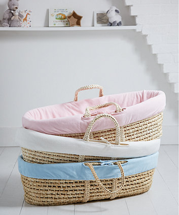 mothercare fleece moses basket liner - cream