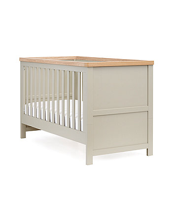 mothercare lulworth cot bed - grey