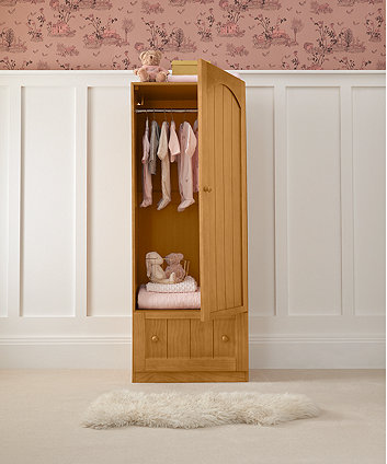 mothercare marlow single wardrobe - antique