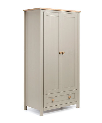 mothercare lulworth wardrobe - grey