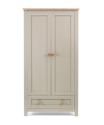 mothercare lulworth wardrobe - grey