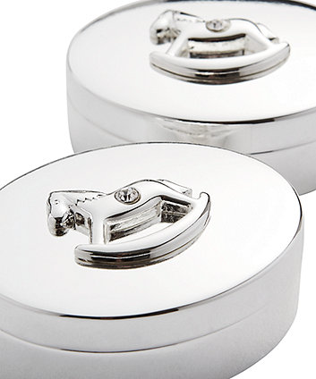 rocking horse tooth and curl keepsake boxes