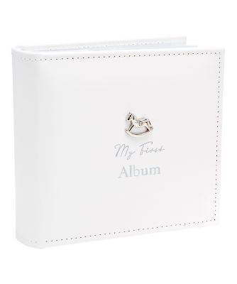 rocking horse white photo album