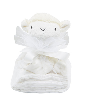 my first lamb comforter and muslins gift set