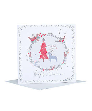 my first christmas twinkle card
