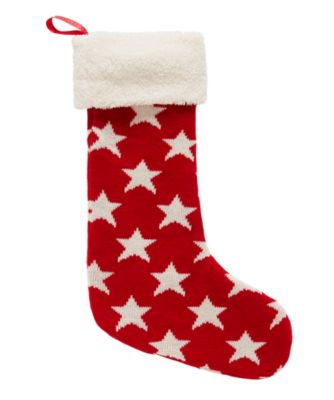 knitted star Christmas stocking