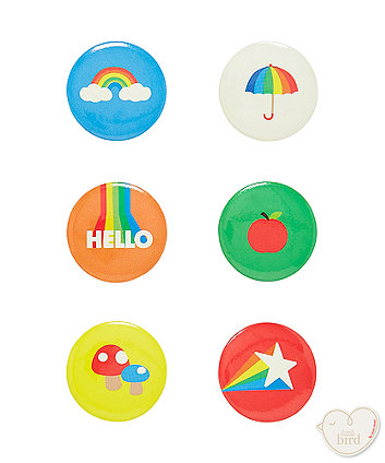 little bird mini badges