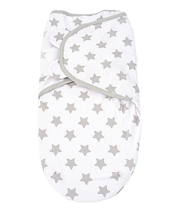 Summer Infant original swaddle - small (0-3 months) grey star *exclusive to mothercare*