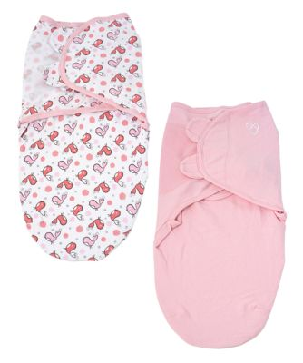 Summer Infant original swaddle - small (0-3 months) tweet tweet and pink - 2 pack *exclusive to mothercare*