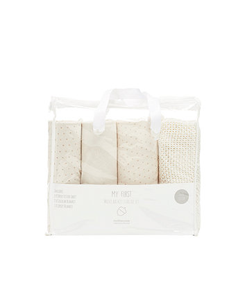 mothercare moses basket starter set - cream