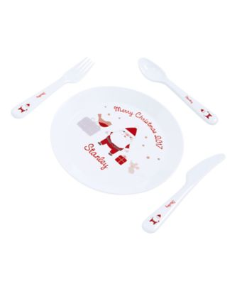 mothercare personalised my first christmas plastic plate and cutlery