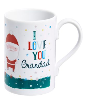 mothercare personalised i love you grandad christmas mug