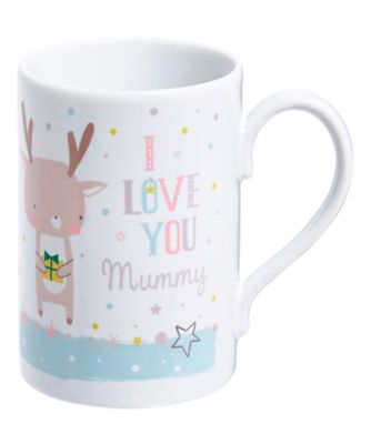 mothercare personalised i love you mummy christmas mug