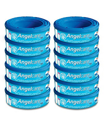 Angelcare nappy disposal system refill cassettes - 12 Pack