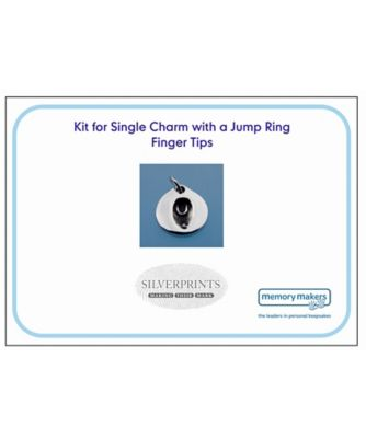 Memory Makers silverprints finger tip single charm with jump ring - kit