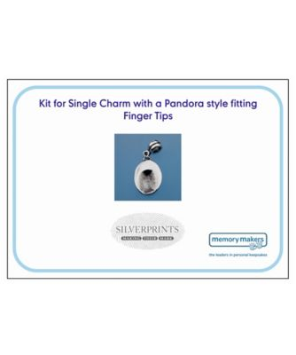 Memory Makers silverprints finger tip single charm with pandora - kit