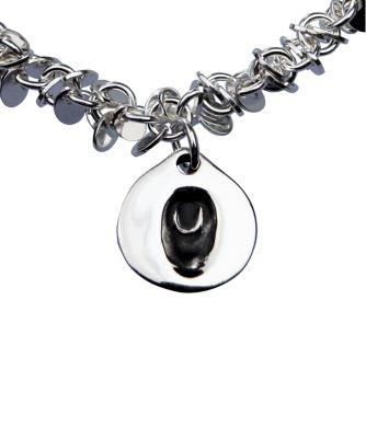 Memory Makers silverprints finger tip single charm on multi-link bracelet - kit