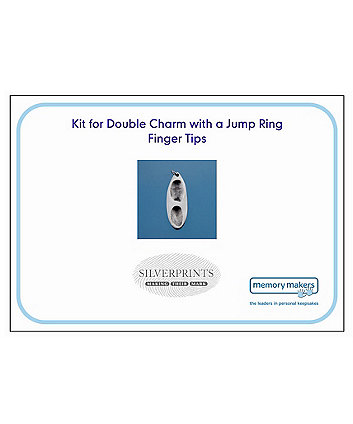 Memory Makers silverprints finger tip double charm with jump ring - kit