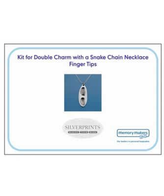 Memory Makers silverprints finger tip double charm on snake necklace - kit