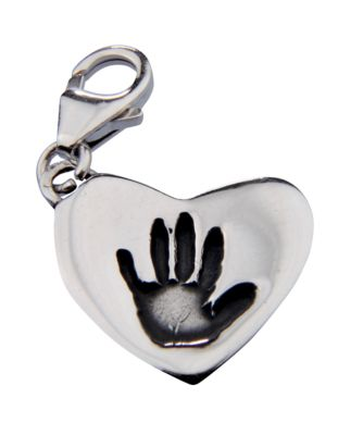 Memory Makers silverprints tiny mitts single charm with clasp - kit