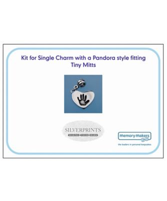 Memory Makers silverprints tiny mitts single charm with pandora - kit