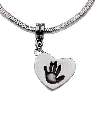 Memory Makers silverprints tiny mitts single charm on snake bracelet - kit