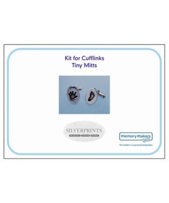 Memory Makers silverprints tiny mitts cufflinks - kit